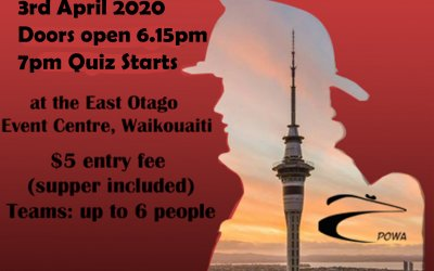 POWA and East Otago Fire Brigade Sky Tower Team Quiz Night
