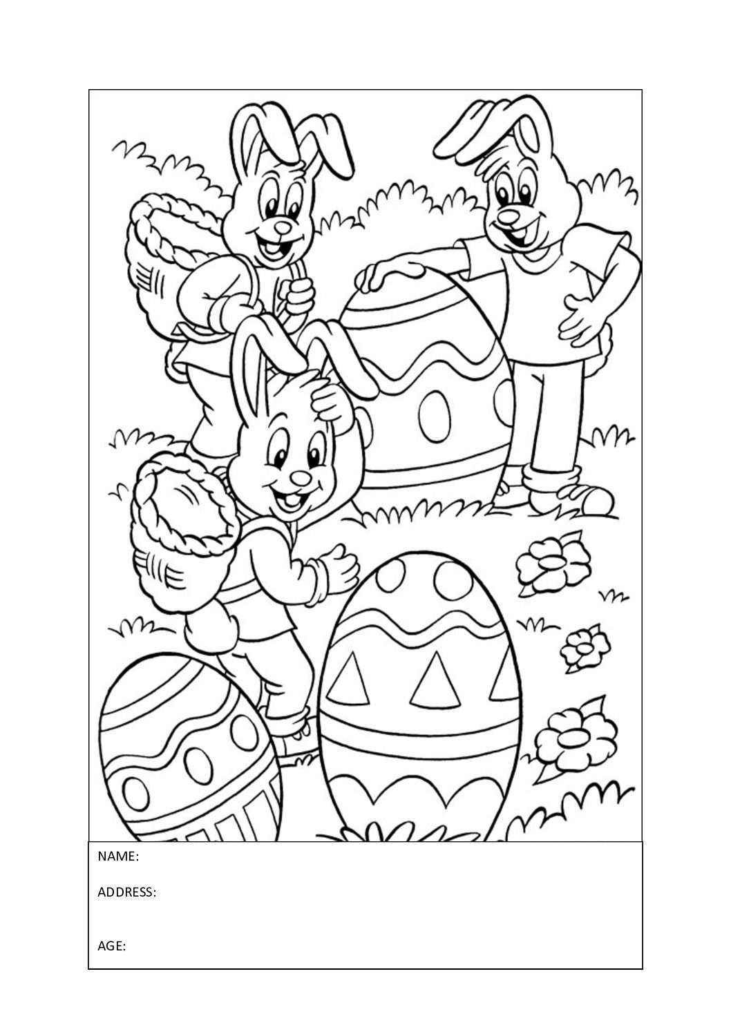 Colouring Competition for Easter